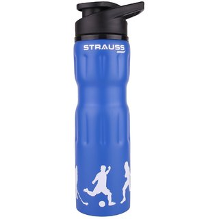 Strauss Stainless-Steel Water Bottle 750ml (Blue)