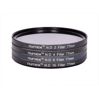 NUMEX 77MM ND2 ND4 ND8 ND16 ND LENS FILTER KIT FOR CANON NIKON SONY TAMRON 77MM THREAD