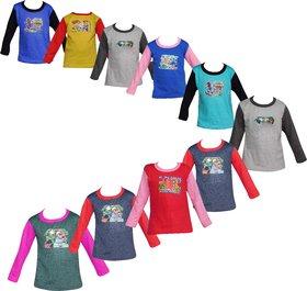 Jisha Fashion Full sleeves Tshirt (RKG) assorted color (pack of 10)
