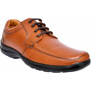 Allen Cooper ACFS-33196 Tan Leather Formal Shoes For Men