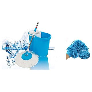 Buy Easy Magic Mop With Microfibre Hand Gloves 8 Pcs - MOPFBR8