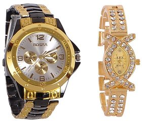 Rosra Combo of 2 Couple Watches