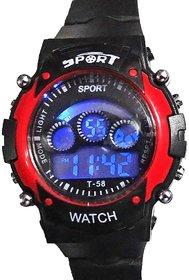 Sport Black Silicon Digital Watch