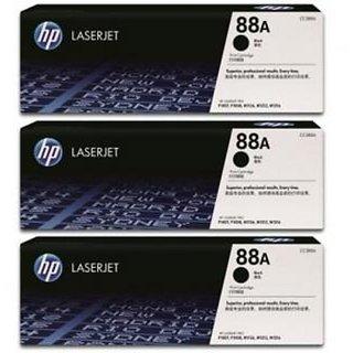 HP 88A Black Toner Cartridge 3 Pack