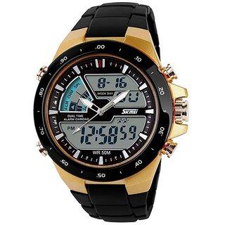 Skmei Round Dial Black Analog Watch for Men