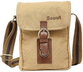 Scout Piccolo Beige Canvas Casual Sling Bag (CSLB10001)