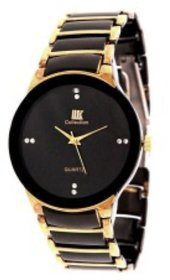 Iik Collection Round Dial Black Analog Watch For Men - 132094066