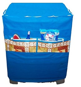 Jim-Dandy Designer Blue Washing Machine Cover With Front Pocket 1 Pc.