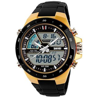 Skmei Round Dial Black Analog Watch for Men