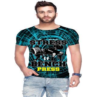 Raves Printed Mens R/neck Multicolor T-shirts Gym Tees 15