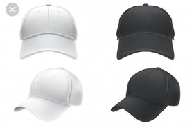 GIRLS Black And White Color Stylish Caps Combo