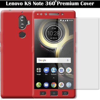 new product f48d5 72ecd Lenovo K8 Plus Ipaky 360 Bumper Cases - Red