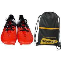 SEGA RED COMFORT FOOTBALL STUD SHOES WITH SHOES BAG COMBO.