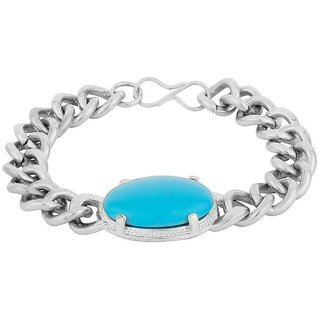 Jsd Salman Khan Turquoise Stone Bracelet For Men Qty 1 Each Color Silver Plated Brand Ured You 100 Qualitative Products
