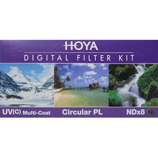 Hoya Digital Filter kit 52 mm Polarizing Filter (CPL)/Ultra Violet Filter/ND Filter