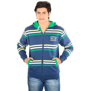 Thread Craft Full Sleeve Striped Men's Sweatshirt