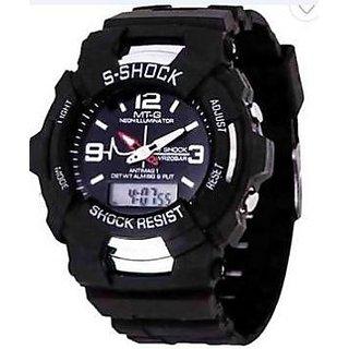 Titanium Dual Time Analog Digital Wrist Watch for women