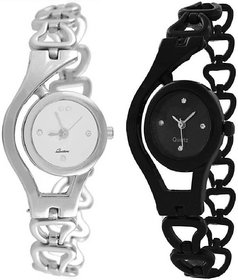 New Combo Offer Original Black And White Watch For Wome