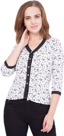 White Crape Shirt for Women