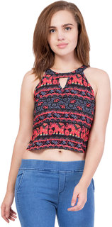Printed women crop top