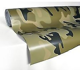 24x50 3D Military Carbon Fiber Vinyl Car Wrap Sheet Roll Film Sticker Decal
