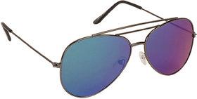 Arzonai Ultimate Blue Aviator Shape UV Protected Sunglasses for Men & Women (MA-904-S9)