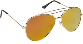 Arzonai Ultimate Orange Aviator Shape UV Protected Sunglasses for Men & Women (MA-904-S10)