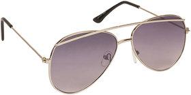 Arzonai Tebrow Black Aviator Shape UV Protected Sunglasses for Men & Women (MA-902-S1)