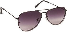 Arzonai Classics Black Aviator Shape UV Protected Sunglasses for Men & Women (MA-1000-S3)