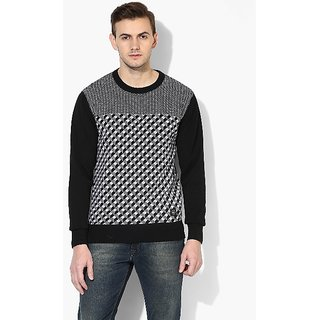 Red Chief Black Full Sleeves  Sweaters For Men'S