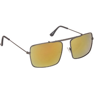 084276bf5f Arzonai Gentle Orange Rectangle Shape UV Protected Sunglasses for Men s  (MA-083-S5
