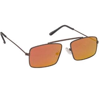 318d5a6567 Arzonai Royal Orange Rectangle Shape UV Protected Sunglasses for Men s (MA -091-S8