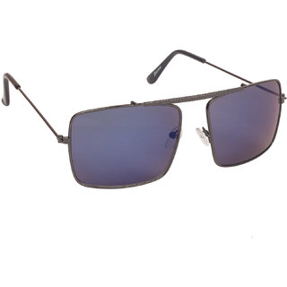 Arzonai Gentle Blue Rectangle Shape UV Protected Sunglasses for Men's (MA-083-S7)