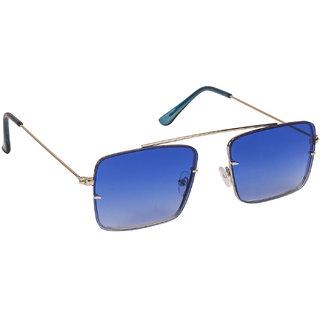 Arzonai Raees Blue Rectangle Shape UV Protected Sunglasses for Men's (MA-9999-S10)