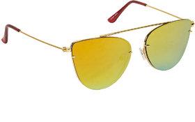Arzonai Beautiful Orange Cat Eyes Shape UV Protected Sunglasses for Women's (MA-5558-S6)
