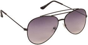 Arzonai Ultimate Black Aviator Shape UV Protected Sunglasses for Men & Women (MA-904-S1)