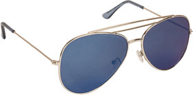 Arzonai Ultimate Blue Aviator Shape UV Protected Sunglasses for Men & Women (MA-904-S7)