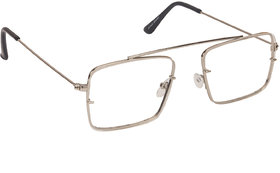 Arzonai Raees Clear Rectangle Shape UV Protected Sunglasses for Men's (MA-9999-S3)