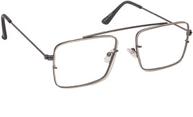 Arzonai Raees Clear Rectangle Shape UV Protected Sunglasses for Men's (MA-9999-S4)