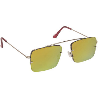 Arzonai Raees Orange Rectangle Shape UV Protected Sunglasses for Men's (MA-9999-S11)