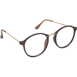 Arzonai Frame Brown Round Shape UV Protected Sunglasses for Men & Women (MA-666-S3)