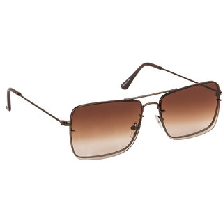 Arzonai Regent Brown Square Shape UV Protected Sunglasses for Men & Women (MA-6666-S6)