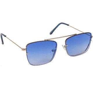 Arzonai Dapper Blue Square Shape UV Protected Sunglasses for Men & Women (MA-2222-S6)