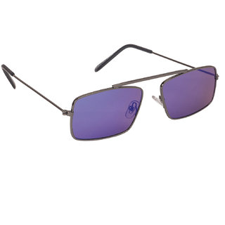 Arzonai Royal Blue Rectangle Shape UV Protected Sunglasses for Men's (MA-091-S1)