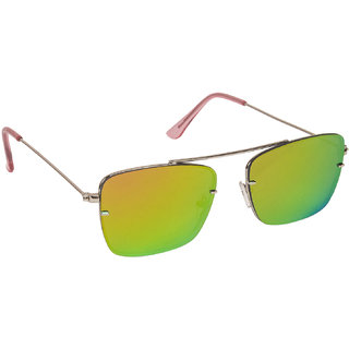 73bc0fbc25e Arzonai Dapper Orange Square Shape UV Protected Sunglasses for Men   Women ( MA-2222-S11)