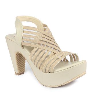 788dca2a23ff Buy Ladies Sandal Digni Women Cream Heels (DDWF-R-5-CREAM-40) Online ...