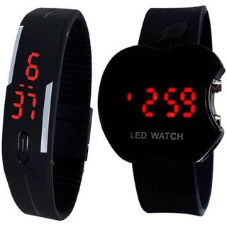 Sport led CutApple With Led Black Digital Combo Watch For Boys