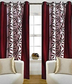 avi trendz kolaveri marron single window curtain (4x5)
