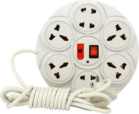 Boxer 360 Extension Cord 8 Socket Power Strip 10.5 feet wire