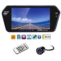 7 Inch Full HD Touch Screen Bluetooth LED Screen + 8 LED Reverse Parking Camera for Cars